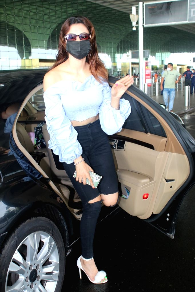 Urvashi Rautela spotted at airport departure On Monday, 07 June, 2021.