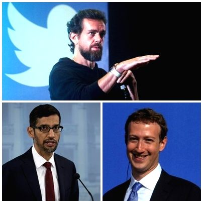 US Congress grills Twitter, Facebook, Google CEOs.