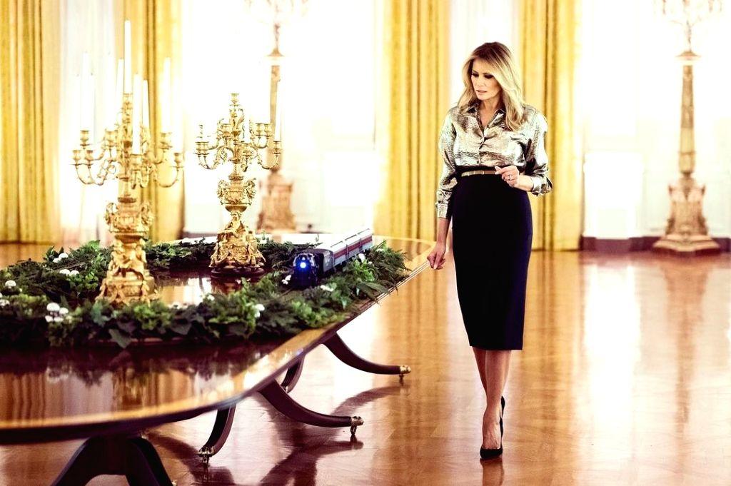 US First Lady Melania Trump unveils White House Christmas decor.(Credit: instagram/Flotus)