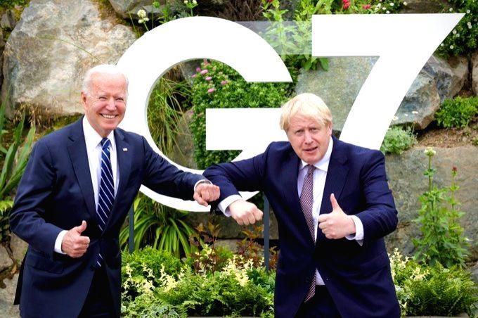 US President Joe Biden meets UK Prime Minister Boris Johnson (pic credit: https://twitter.com/BorisJohnson) - Boris Johnson
