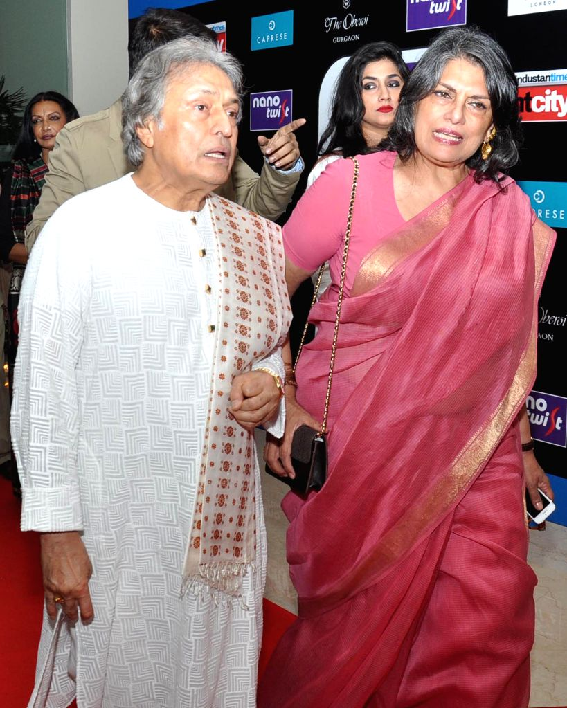 Ustad Amjad Ali Khan during the Red carpet of HT Delhi`s Most Stylish Awards at the Oberoi Hotel Gurgaon on April 18, 2014.