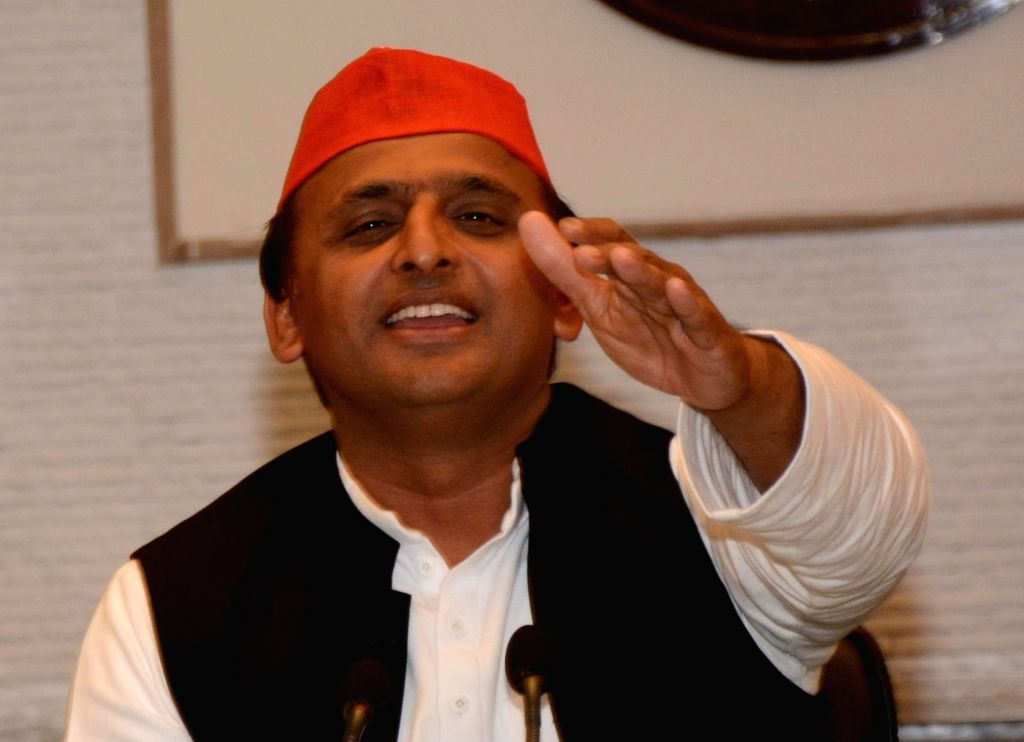 Uttar Pradesh Chief Minister and SP leader Akhilesh Yadav addresses a press conference regarding party's performance in the assembly elections in Lucknow on March 11, 2017. - Akhilesh Yadav