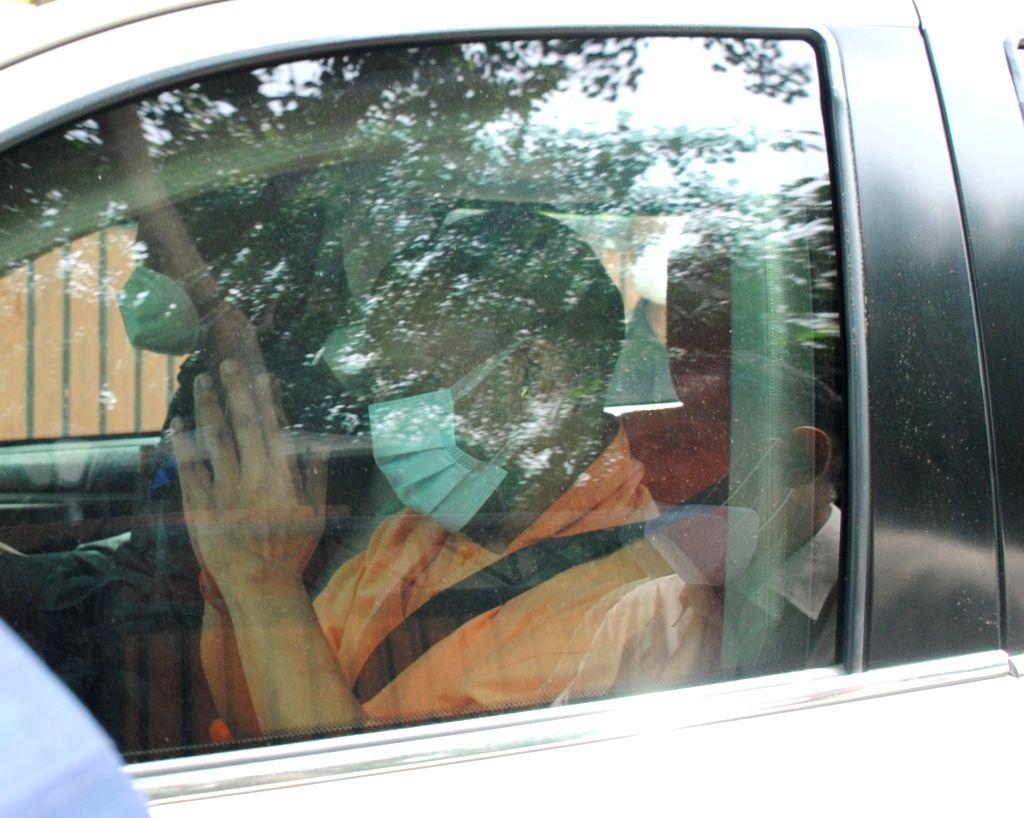 Uttar Pradesh chief minister Yogi Adityanath coming out after meeting with BJP president JP Nadda in New Delhi on Friday  11 June 2021. - Yogi Adityanath