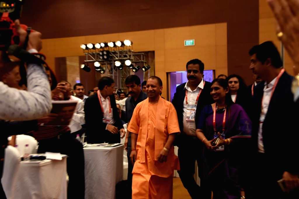 Uttar Pradesh Chief Minister Yogi Adityanath during a three-day conference of World Hindu Economic Forum (WHEF) in Mumbai on Sep 27, 2019. - Yogi Adityanath