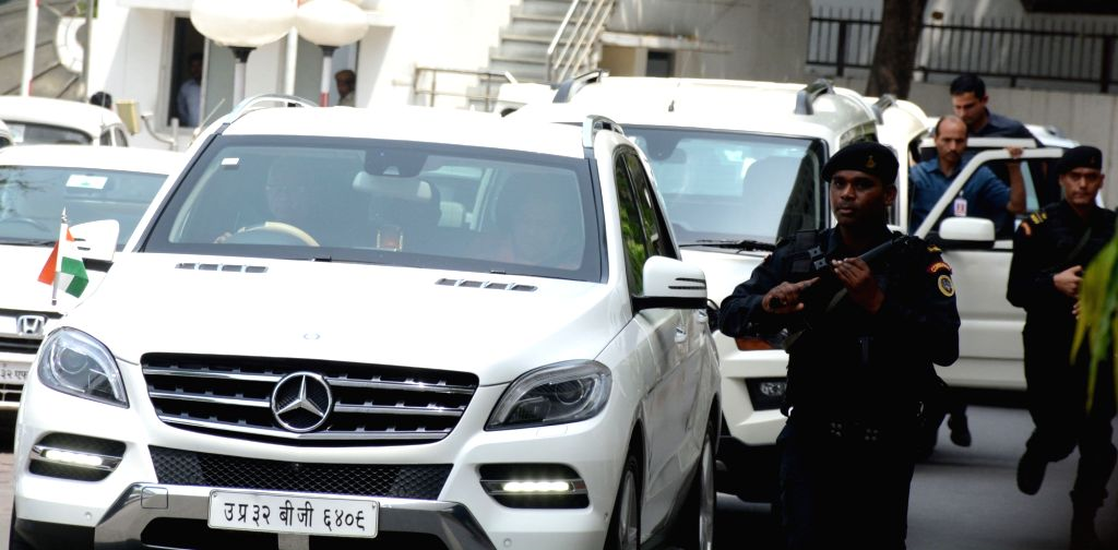 Uttar Pradesh Chief Minister Yogi Adityanath's convoy. The cars in the convoy can be seen without beacon after the Union Government on Wednesday announced official vehicles of dignitaries ... - Yogi Adityanat