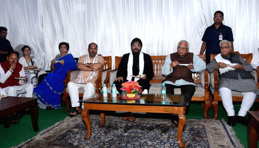 Uttar Pradesh Governor Ram Naik during an iftaar party organised by him at Raj Bhawan in Lucknow on June 8, 2018.