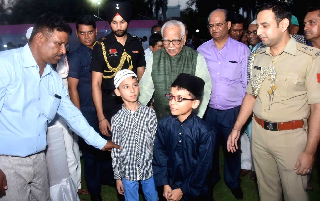 Uttar Pradesh Governor Ram Naik during an Iftaar party hosted by him at Raj Bhawan in Lucknow on June 3, 2019.
