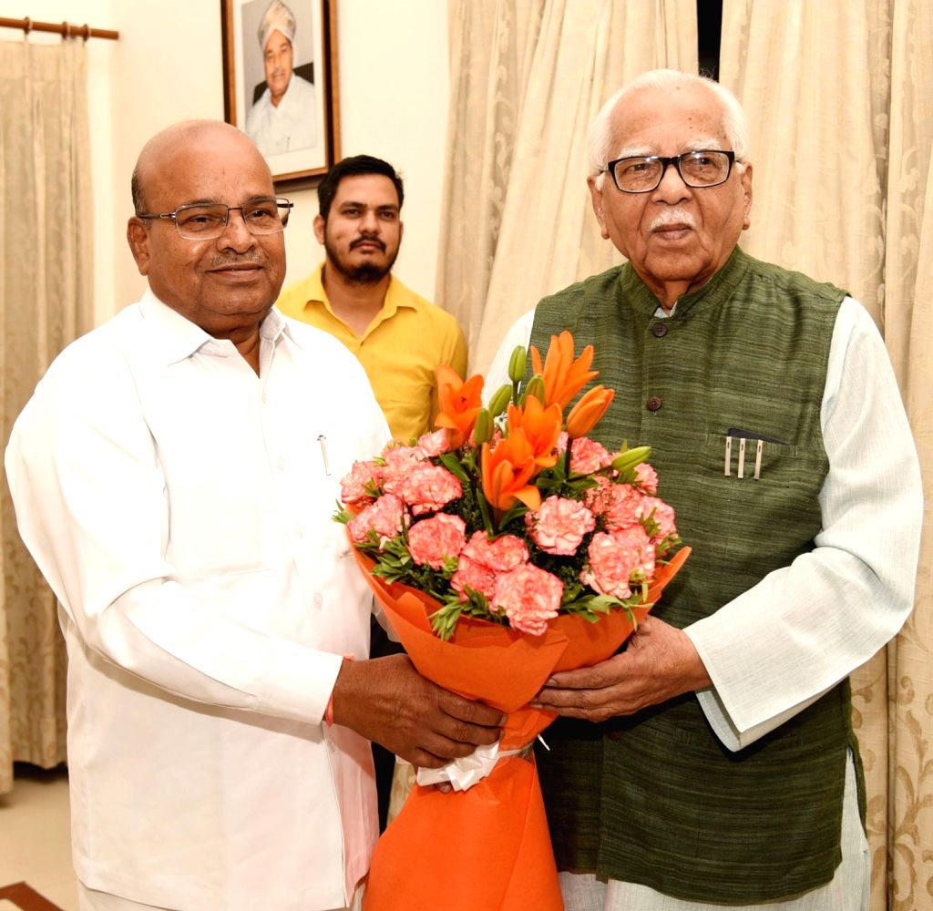Uttar Pradesh Governor Ram Naik meets Union Social Justice and Empowerment Minister Thaawar Chand Gehlot, in New Delhi on June 14, 2019. - Thaawar Chand Gehlot