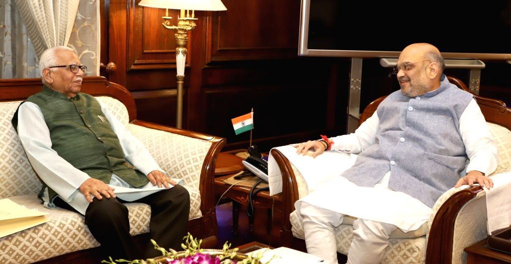 Uttar Pradesh Governor Ram Naik meets Union Home Minister Amit Shah, in New Delhi on June 14, 2019. - Amit Shah