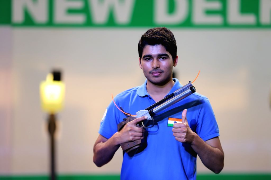 Uttar Pradesh's talented shooter Saurabh Chaudhary and Haryana's Manu Bhaker on Friday aced the T1 men's and women's 10metre air pistol trials, respectively, at Dr Karni Singh range here. - Saurabh Chaudhary and Karni Singh