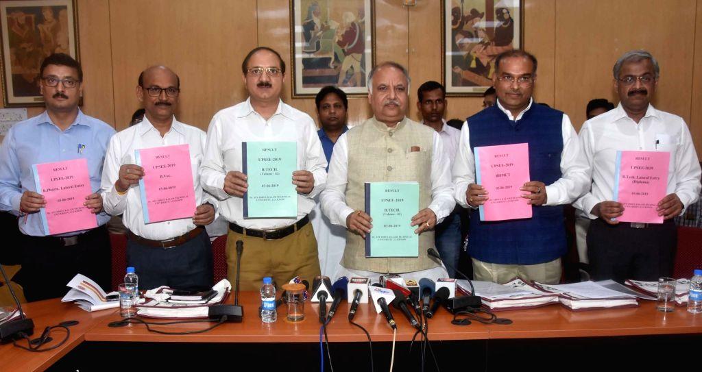 Uttar Pradesh Technical and Medical Education Minister Ashutosh Tandan releases the 2019 Uttar Pradesh State Entrance Examination (UPSEE) result, in Lucknow on June 3, 2019. - Ashutosh Tandan