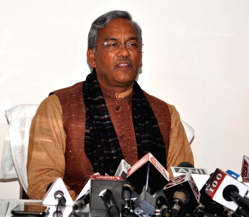 Uttarakhand Chief Minister Trivendra Singh Rawat. (Photo: IANS) - Trivendra Singh Rawat