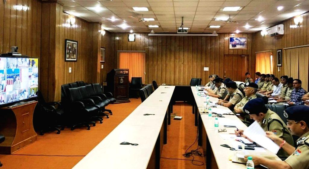 Uttarakhand Director General (DG) Anil K Raturi chairs a review meeting regarding Uttarakhand Panchayati Raj Elections in Dehradun on Sep 27, 2019.