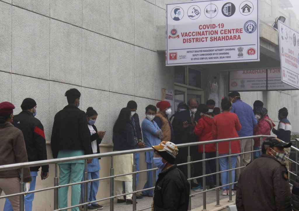 Vaccination drive at Rajiv Gandhi Hospital, New Delhi on 16 January 2021 - Rajiv Gandhi Hospital