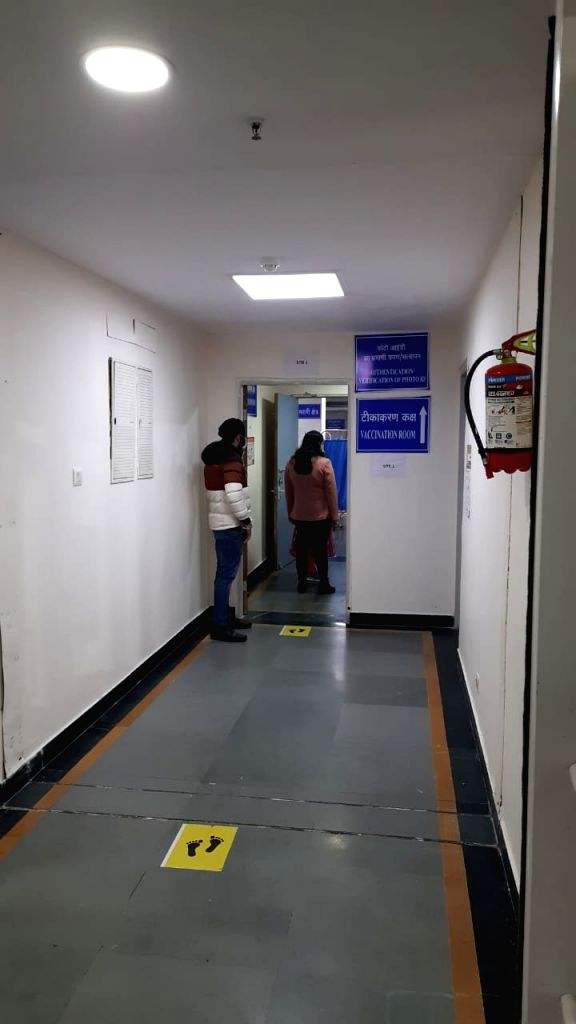 Vaccination preparations in RML Hospital, New Delhi