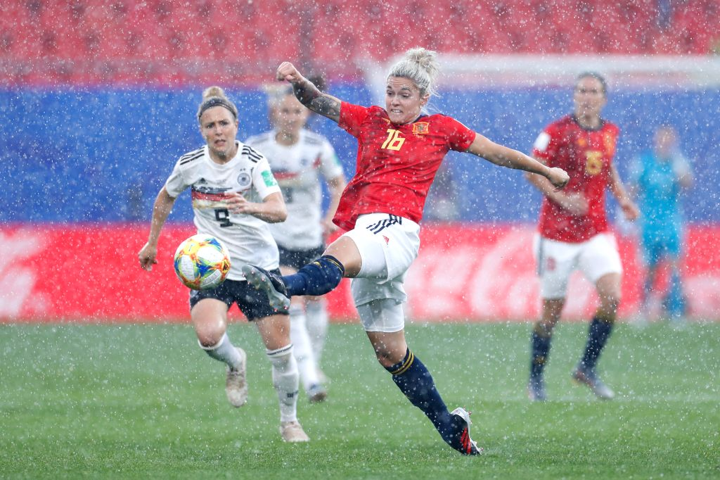 VALENCIENNES, June 13, 2019 - Maria Leon of Spain competes during the Group B match between Germany and Spain at the 2019 FIFA Women's World Cup in Valenciennes, France, June 12, 2019. Germany won ...
