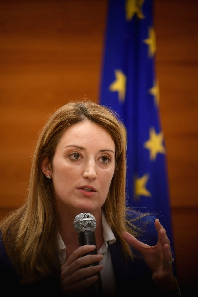 VALLETTA, Dec. 4, 2019 - Member of the European Parliament Roberta Metsola speaks during a press conference in Valletta, Malta, on Dec. 4, 2019. A European Parliament delegation expressed on ... - Joseph Musca