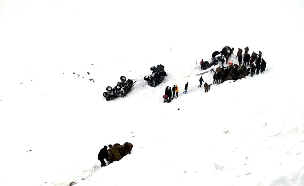 VAN (TURKEY), Feb. 5, 2020 Rescuers work after a huge avalanche in the eastern Turkish province of Van, on Feb. 5, 2020. At least 33 rescue workers were killed and 53 others injured on ...