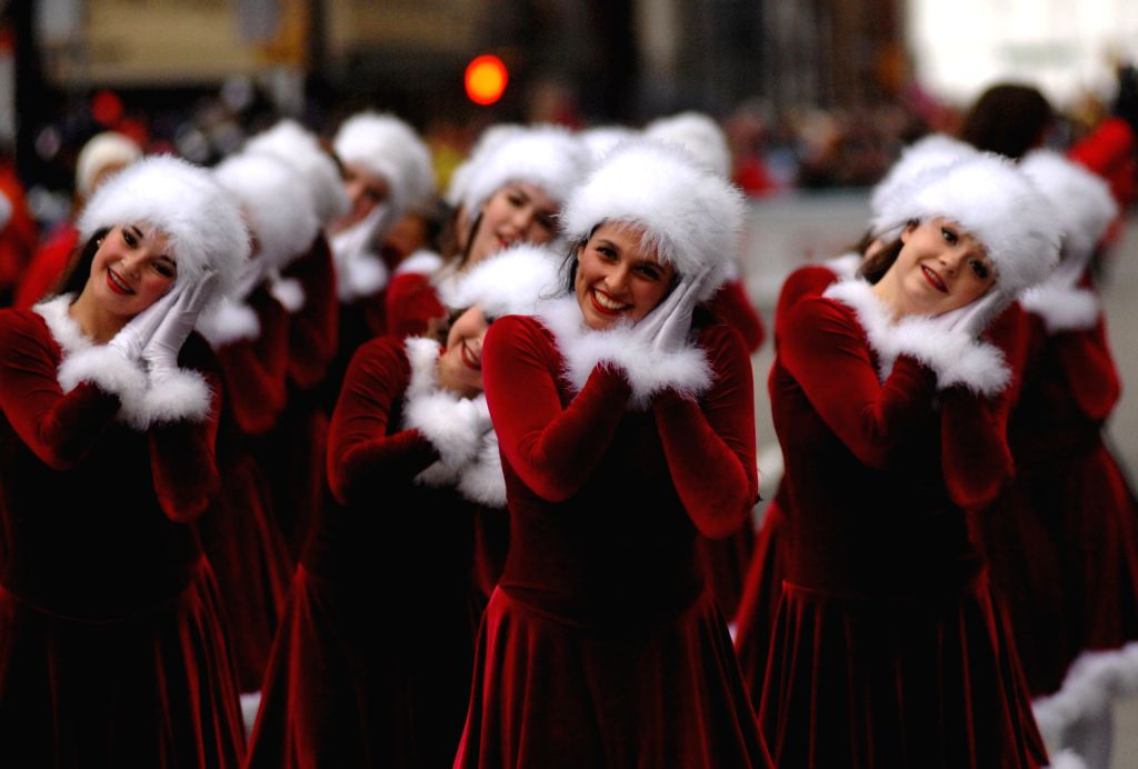Vancouver Christmas Parade.Members Of The Shift Dance Academy Perform During The Santa