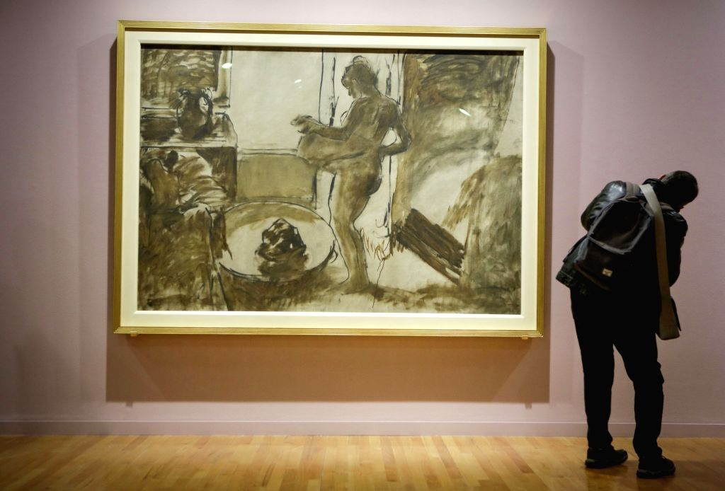 """VANCOUVER, Feb. 28, 2019 - A visitor views a painting at an exhibition entitled """"French Moderns: Monet to Matisse, 1850-1950"""" at the Vancouver Art Gallery in Vancouver, Canada, Feb. 28, ..."""