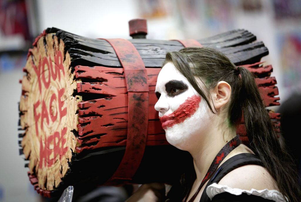 VANCOUVER, March 3, 2019 - A cosplayer poses during the Fan Expo at Vancouver Convention Centre in Vancouver, Canada, March 2, 2019. The Fan Expo, a three-day pop culture event in Vancouver, kicked ...