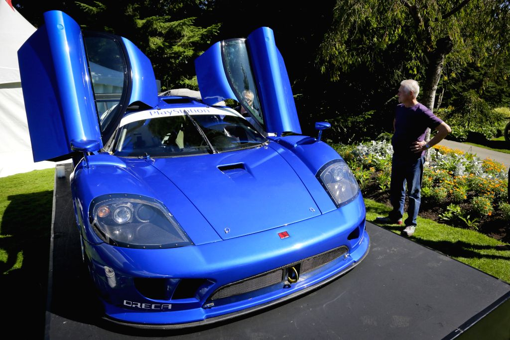 A Saleen S7R sport car is on display at the Vancouver luxury and super car show at VanDusen Botanical Garden in Vancouver, Canada, Sept. 5,  2014. (Xinhua/Liang .