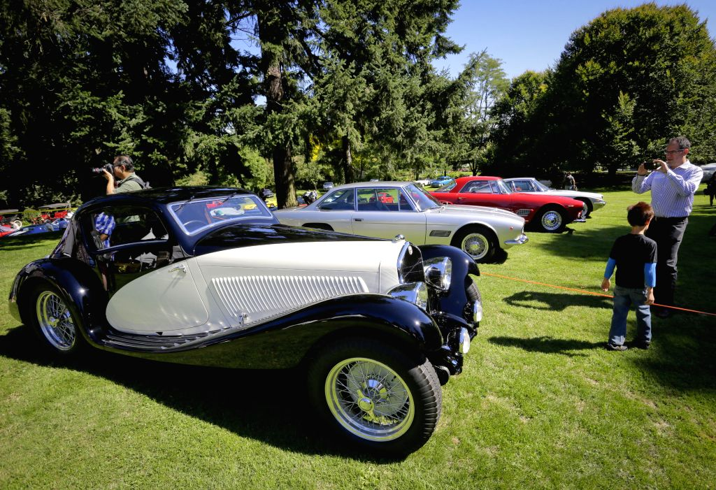 Different types of vintage cars are seen during the Vancouver luxury and super car show at VanDusen Botanical Garden in Vancouver, Canada, Sept. 5,  2014. ...