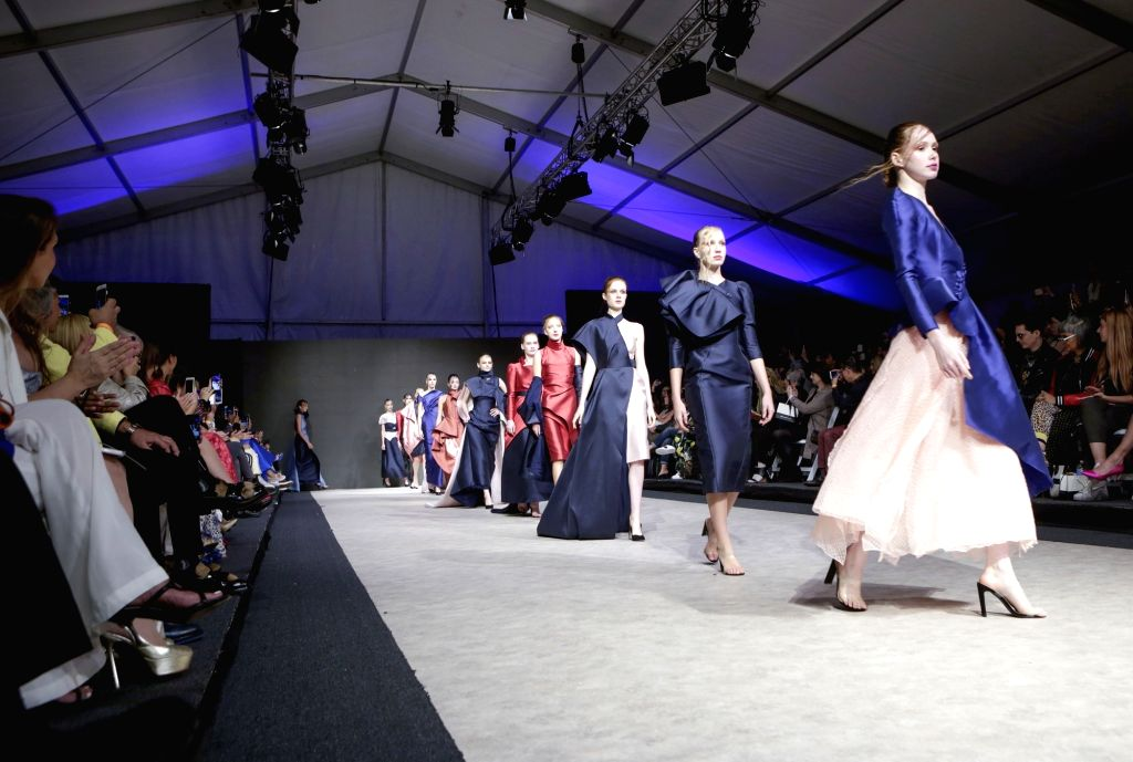 VANCOUVER, Sept. 18, 2018 - Models walk the runway during the opening show of the Vancouver Fashion Week in Vancouver, Canada, on Sept. 17, 2018.