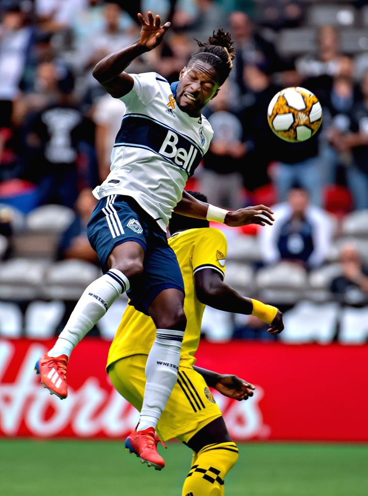 VANCOUVER, Sept. 22, 2019 - Vancouver Whitecaps' Tosaint Ricketts (L) vies with Columbus Crew's Aboubacar Keita during the MLS regular season soccer match between Vancouver Whitecaps FC and Columbus ...