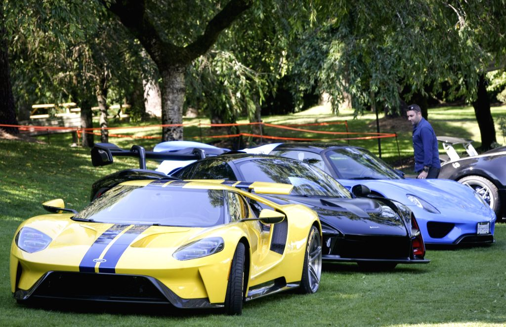VANCOUVER, Sept. 6, 2019 - Supercars are displayed during the media preview of the 10th annual Luxury and Super Weekend show in Vancouver, Canada, on Sept. 6, 2019. The 10th Luxury and Supercar ...