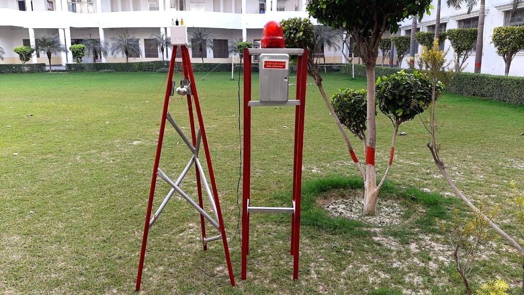 Varanasi : Varanasi students develop glacier flood sensor alarm, Varanasi on Thursday.
