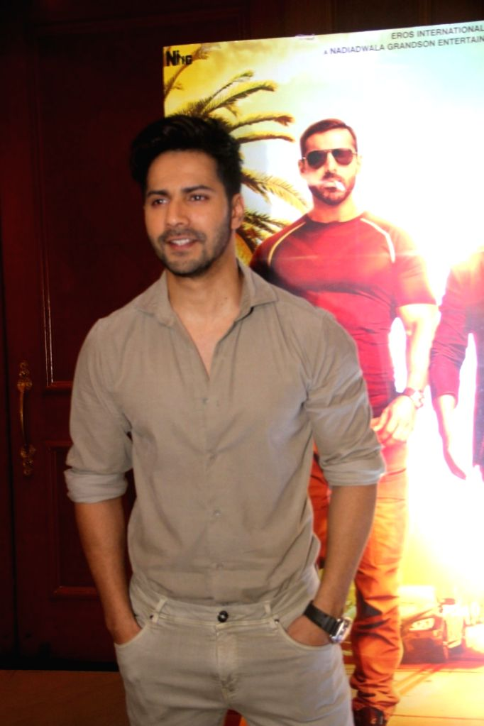 Varun Dhawan during a media interaction for success of the film Dishoom in Mumbai on August 3, 2016