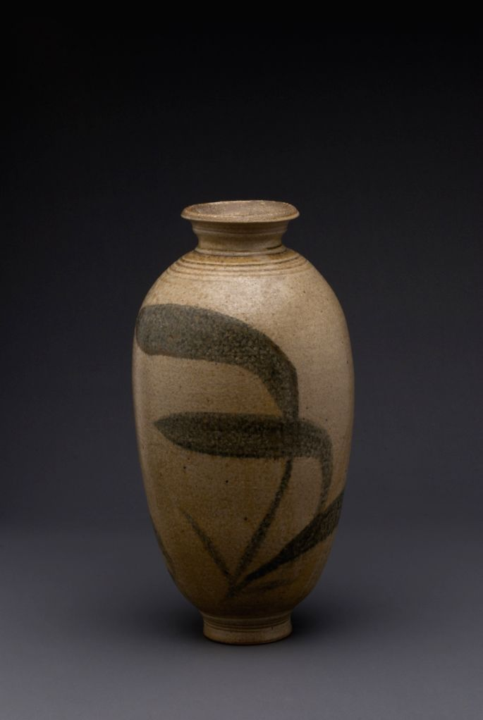 vase with brushwork.