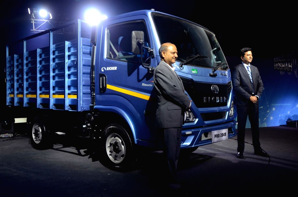 VE Commercial Vehicles (a unit of Eicher Motors) MD and CEO Vinod Aggarwal unveils India's first BS-VI compliant range of Eicher truck in Mumbai, on June 10, 2019.