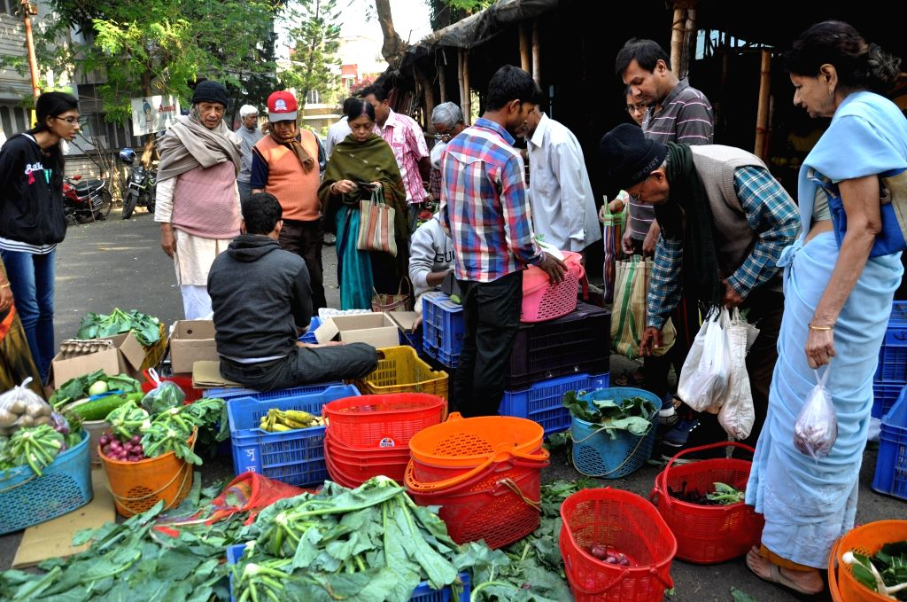 Vegetables being sold at subsidised rates at the Sufal Bangla vegetable market in Kolkata on Dec 6, 2019.