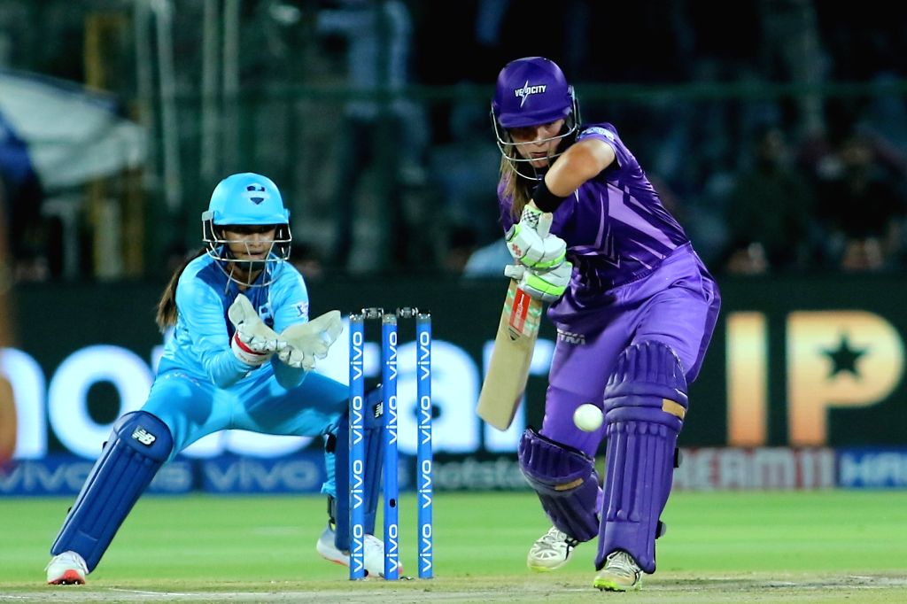 Velocity's Amelia Kerr in action during the final match of Women's T20 Challenge 2019 between Supernovas and Velocity at Sawai Mansingh Stadium in Jaipur, on May 11, 2019.
