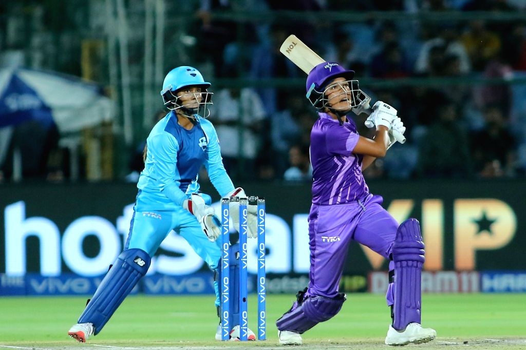 Velocity's Sushma Verma in action during the final match of Women's T20 Challenge 2019 between Supernovas and Velocity at Sawai Mansingh Stadium in Jaipur, on May 11, 2019. - Sushma Verma