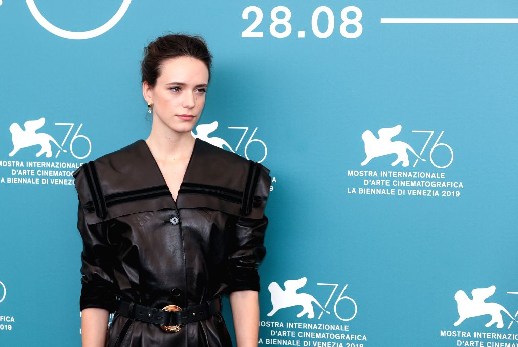 VENICE, Aug. 28, 2019 - Main competition jury member Stacy Martin poses for photos during a photocall at the 76th Venice International Film Festival in Venice, Italy, Aug. 28, 2019. The 76th Venice ...