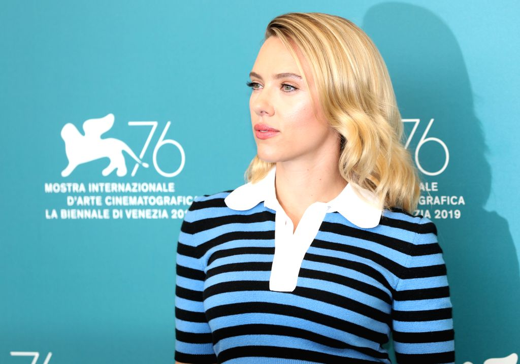 "VENICE, Aug. 29, 2019 - Actress Scarlett Johansson attends a photocall for the film ""Marriage Story"" during the 76th Venice International Film Festival in Venice, Italy, on Aug. 29, 2019. - Scarlett Johansson"