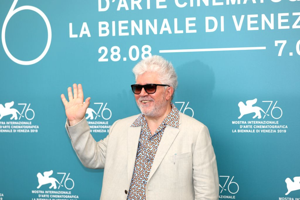 VENICE, Aug. 29, 2019 - Spanish director Pedro Almodovar poses for photos during a photocall at the 76th Venice International Film Festival in Venice, Italy, on Aug. 29, 2019. Spanish director Pedro ... - Pedro Almodovar
