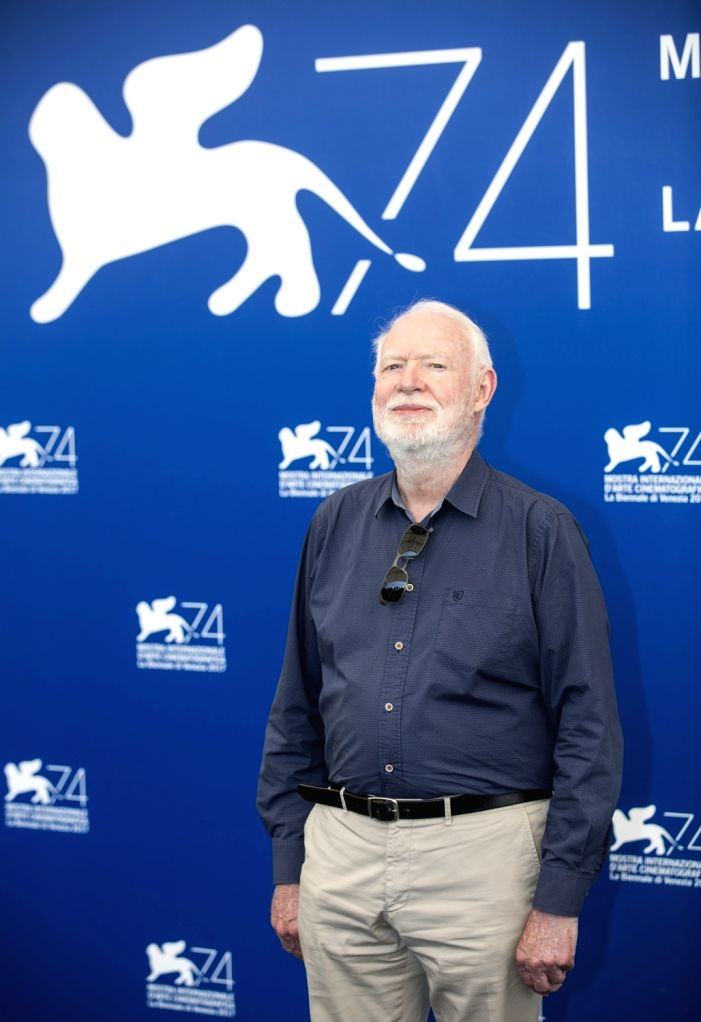 VENICE, Aug. 30, 2017 - Jury member of the 74th edition of the Venice Film Festival David Stratton poses at the Jury photocall during the 74th Venice Film Festival in Venice, Italy, on Aug. 30, 2017. ...