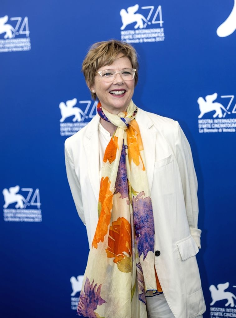 VENICE, Aug. 30, 2017 - President of the jury of the 74th edition of the Venice Film Festival Annette Bening poses at the Jury photocall during the 74th Venice Film Festival in Venice, Italy, on Aug. ...