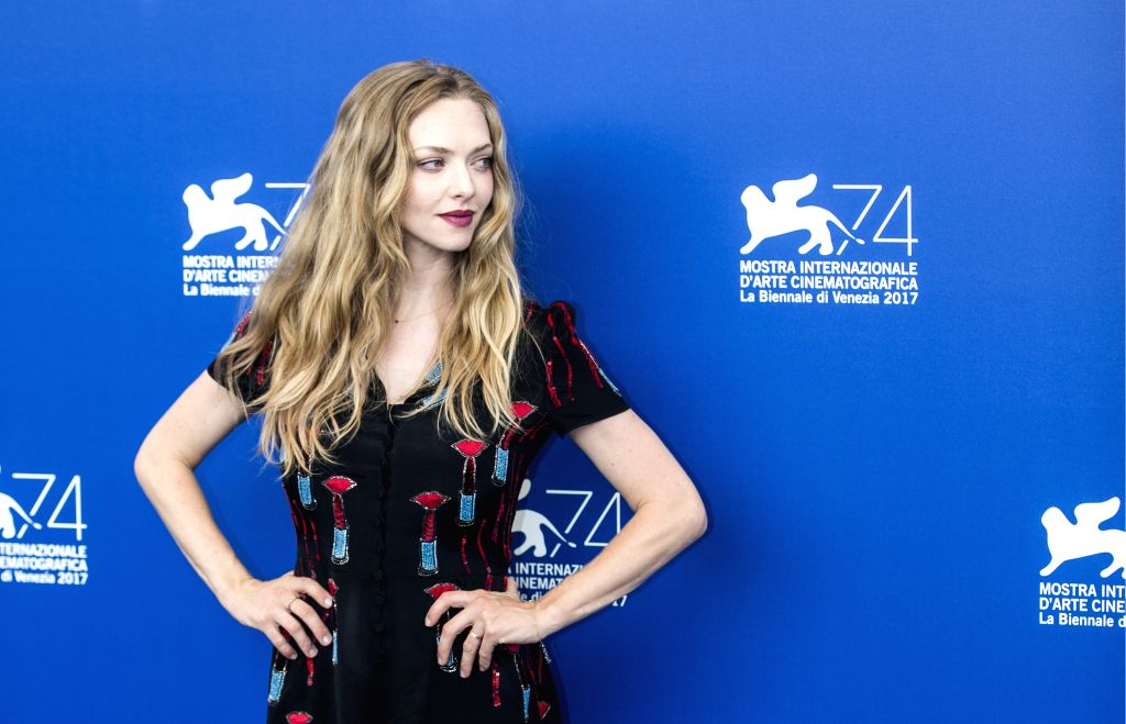"""VENICE, Aug. 31, 2017 - Actress Amanda Seyfried poses during a photocall for the movie """"First Reformed"""" at the 74th Venice Film Festival in Venice, Italy, on Aug. 31, 2017. - Amanda Seyfried"""