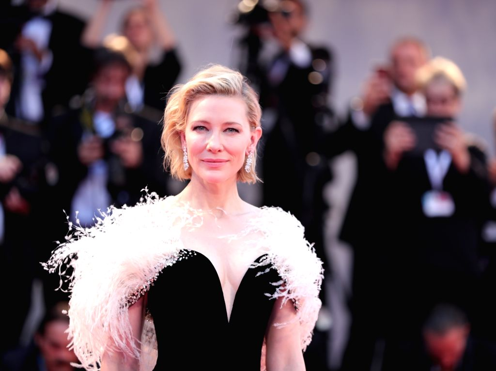 "VENICE, Aug. 31, 2018 - Actress Cate Blanchett attends the premiere of the film ""A Star Is Born"" during the 75th Venice International Film Festival in Venice, Italy, Aug. 31, 2018. - Cate Blanchett"