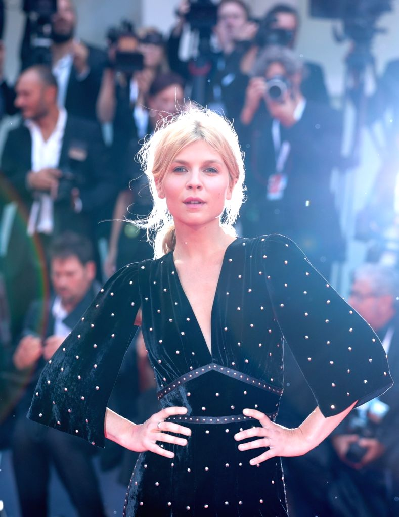 "VENICE, Aug. 31, 2018 - Actress Clemence Poesy attends the premiere of the film ""A Star Is Born"" during the 75th Venice International Film Festival in Venice, Italy, Aug. 31, 2018. - Clemence Poesy"