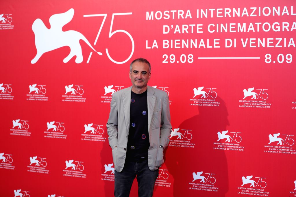 """VENICE, Aug. 31, 2018 - Olivier Assayas attends """"Doubles Vies"""" photocall during the 75th Venice International Film Festival at Sala Casino, Venice, Italy, Aug. 31, 2018."""