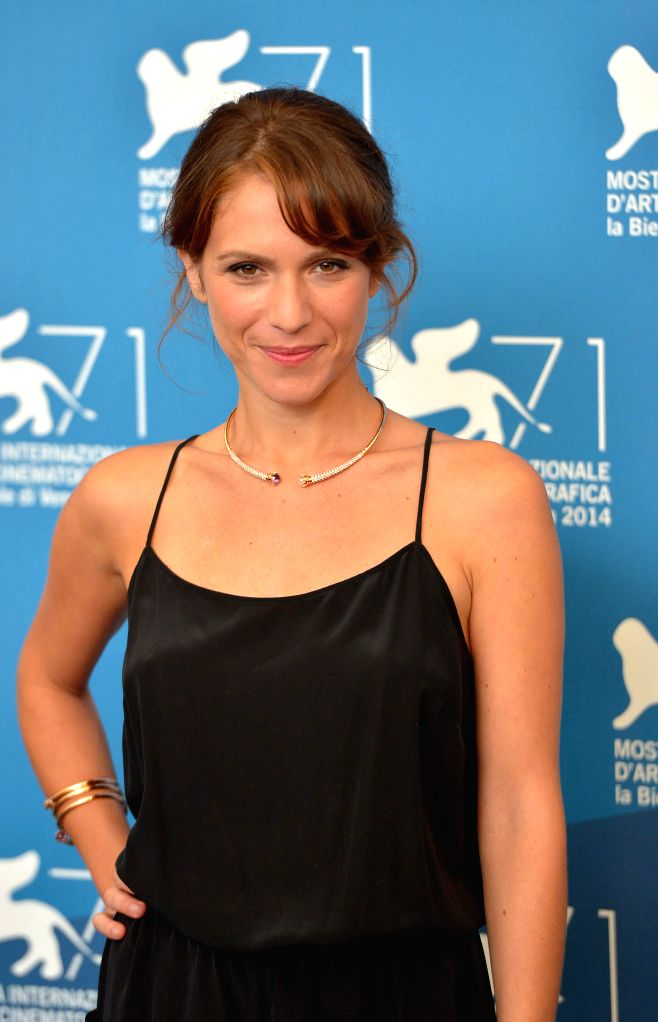 """Actress Isabella Ragonese poses during the photo call for """"Il giovane favoloso"""" which is selected for the main competition during the 71st Venice Film ... - Isabella Ragonese"""
