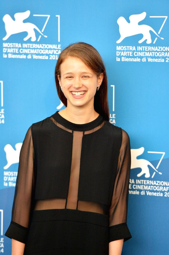 """Actress Meshi Olinski poses during the photo call for """"Tsili"""" which is selected for screening during the 71st Venice Film Festival, in Lido of Venice, ... - Meshi Olinski"""