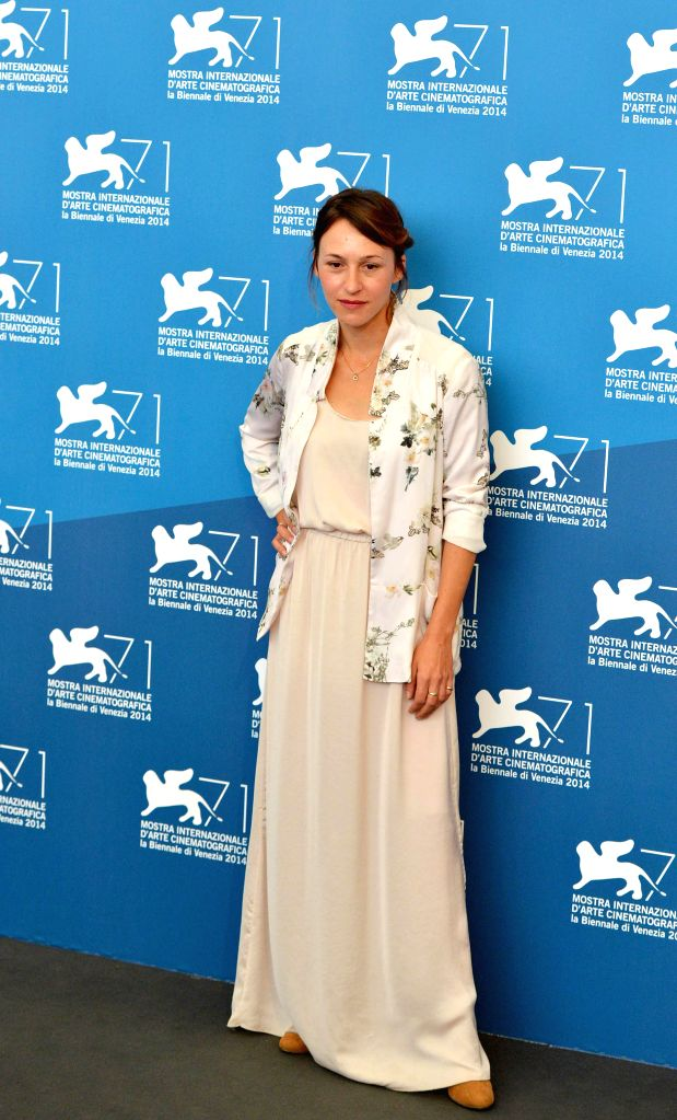 """Actress Sara Adler poses during the photo call for """"Tsili"""" which is selected for screening during the 71st Venice Film Festival, in Lido of Venice, Italy, . - Sara Adler"""