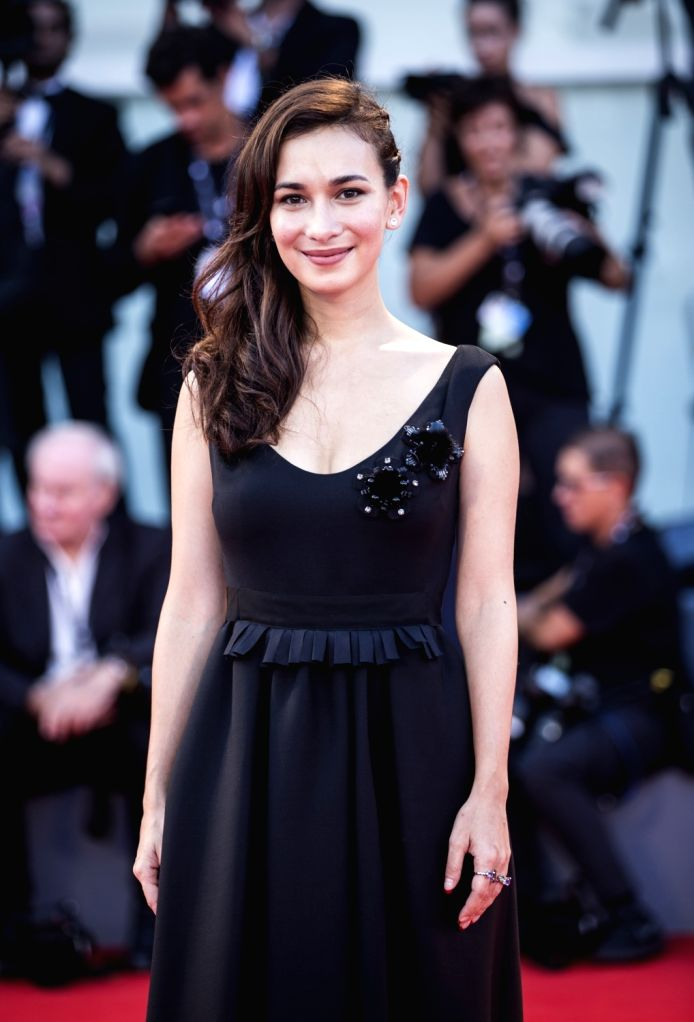 """VENICE, Sept. 1, 2017 - Actress Celina Jade arrives for the premiere of the movie """"The Shape of Water"""" at the 74th Venice Film Festival in Venice, Italy, on Aug. 31, 2017. - Celina Jade"""